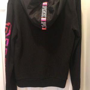 Victoria's Secret Tops - Victoria Secret zip up bling hoodie
